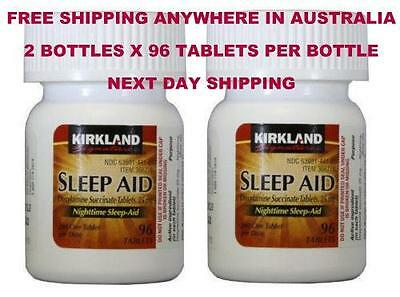 192 Tablets Kirkland Sleep Aid Sleepaid Doxylamine Succinate 25mg sleep aid