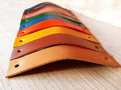LEATHER PULL,HANDLE FOR DRAWERS,CABINETS,DOORS - 2mm VEG TANNED LEATHER 9 COLORS