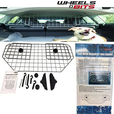 Universal Car Headrest Mesh Dog Gard Guard Grill Adjustable Pet Safety Barrier