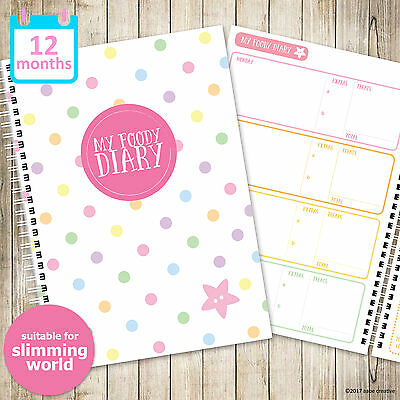 A5 MY FOODY DIARY Slimming World, 52 weeks, food diary, food planner, diet diary