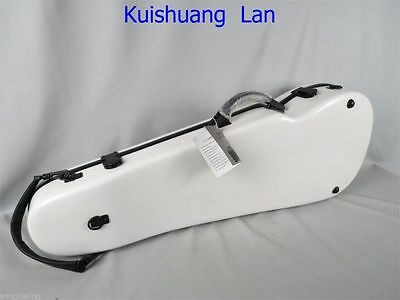 """White fiberglass adjustable 15-17"""" viola case,With two bow's holder"""