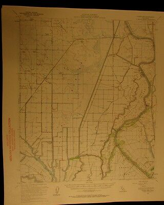 Courtland California 1959 vintage USGS Topographical chart map