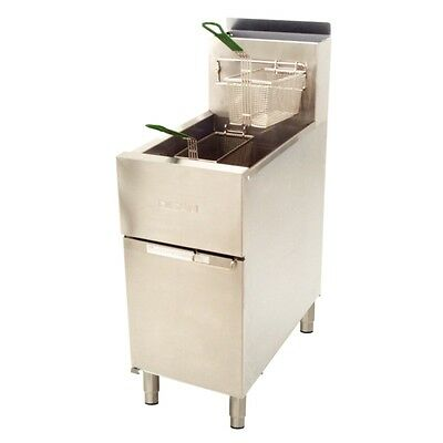 Dean SR42G Gas Fryer 21Lt 400mm NAT or LPG US Made by Frymaster Restaurant Cafe
