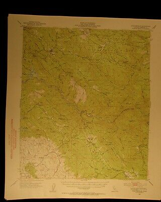 Coulterville California 1953 vintage USGS Topographical chart map