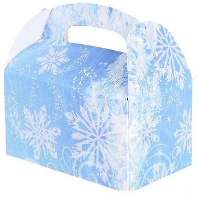 24 SNOWFLAKE TREAT BOXES Christmas Frozen Party Loot Bags #ST17 FREE SHIPPING