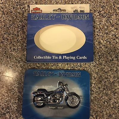 Harley Davidson Collectable Tin And Playing Cards