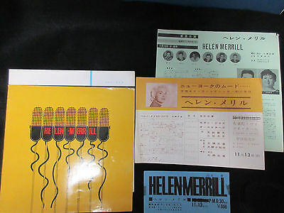 Helen Merrill 1960 Japan Tour Book with Ticket Stub and Flyer Jazz Vocal