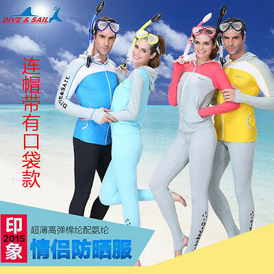Dive clothes hooded open front dive clothing body DIVE SKIN snorkel trousers