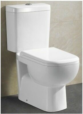 White Close Coupled Toilet Suite, S Trap Only