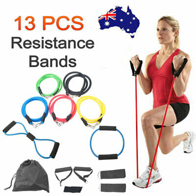 Exercise Yoga Resistance Bands Training Loop Leg Thigh Fitness Latex Tube Rope