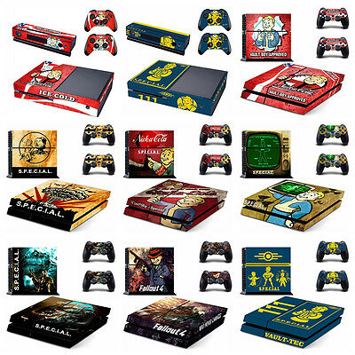 Vinyl Fallout 4 Skin Stickers For Sony PS4 and Xbox One Console + Controllers