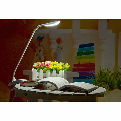 Adjustable USB Clamp Rechargeable LED Reading Light Clip-on Bed Table Desk Lamp