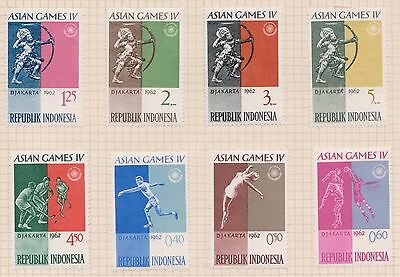 (OQ-76)1962 Indonesia mix of 15 stamps 40S to 20R Asian games mixed condition(B)