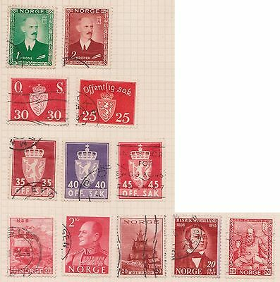 (OQ-39) 1940 Norway mix of 22stamps 20ORE to 2KR used (B)