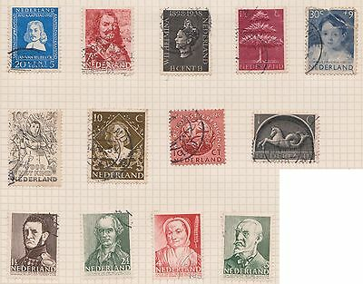 (OQ-26) 1940-70 Netherlands mix of 22stamps 1c to 30c used (A)