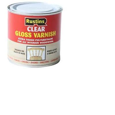 RUSTINS Gloss Varnish 250ml & 500ml Assorted Colours Clearance ReducedNEW