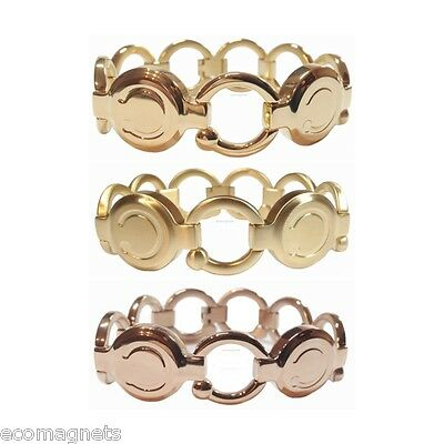Bioflow Pirouette Magnetic Bracelet - Gold / Brushed Gold / Rose Gold