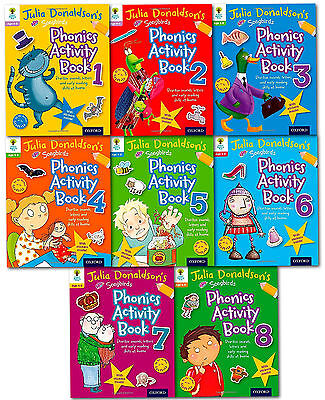 Julia Donaldson Songbirds Phonics Activity Collection 8 Books Set Read at Home