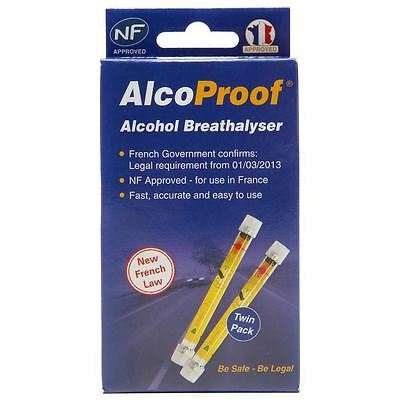 French Breathalyzer Certified French Breathalyzers EXP2021 Set of 2 NF Approved