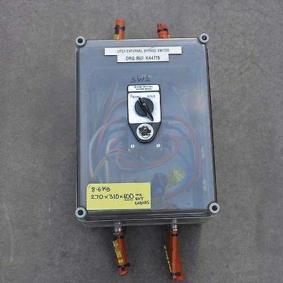 Kraus & Naimer 65A 3 phase selector change over bypass switch suit UPS install