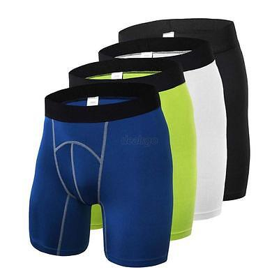 Men Sports Gym Fitness Compression Under Base Layer Shorts Pants Athletic Tights