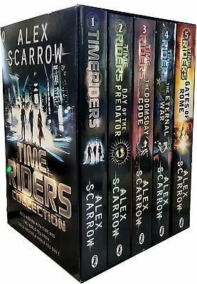 Time Rider Series Alex Scarrow 5 Books Collection Set Gates of Rome, Eternal War