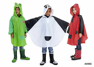 Kids Animal Poncho Jacket / Raincoat Umbrella in Three Different Designs
