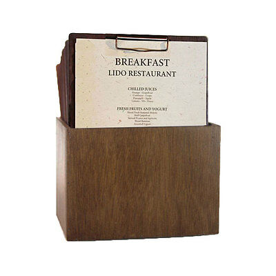 Set A4 Timber Menus and matching storage box FREE FREIGHT