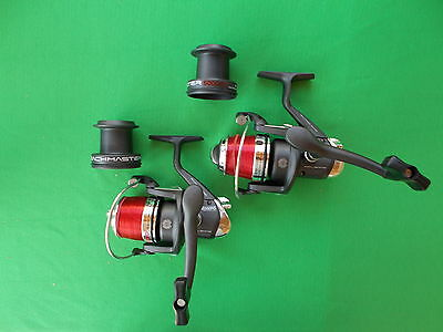 2 X Sea Fishing Reel With Line And Cases