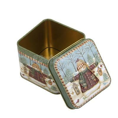 Christmas Square Iron Tin Storage Box Chic Candy Spice Container Novelty Stylish