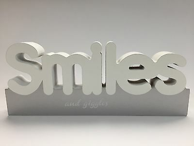 SMILES Splosh wooden freestanding block word