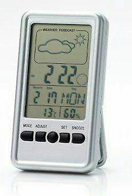 Digital Weather Station Alarm Clock Calendar Temperature Humidity LCD CLO6743