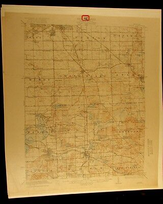 Holly Michigan 1922 vintage USGS Topographical chart map