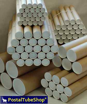 50 - A1 Postal Tubes 63.5mm I/D w/ plugs - FREE Next working day delivery