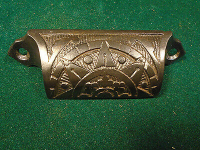 Vintage Eastlake Drawer / Bin Pull - Cast Steel, Beautiful   (5698)
