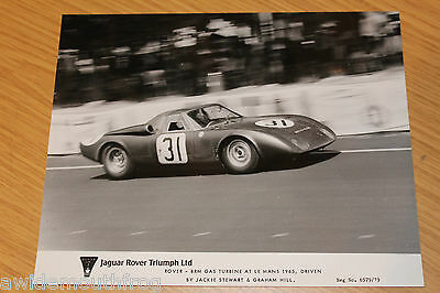 Rover - BRM Le Mans 1965 Jackie Stewart Graham Hill Press Photograph