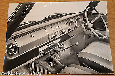Ford Corsair Large Interior (from nearside) Press Photograph Original 1964