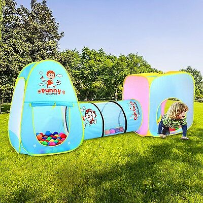 Amagoing Pop Up Children Play Tent and Tunnels Set for Kids 3 in 1 Adventure ...