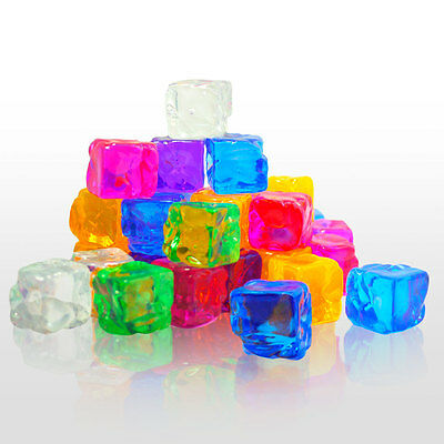 Decorative Fake Ice Cubes with Different Color Options - 12 Piece Set