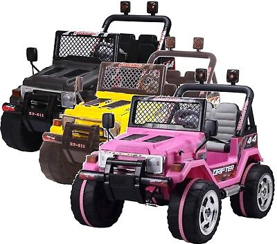 Rebo Wrangler 12V Child's Battery Operated Electric Ride On Jeep - 5 Colours