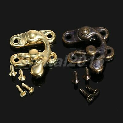 12pcs Antique Vintage Latch Catch Jewellery Box Hasp Pad Gift Chest Lock Hook