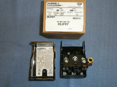 69JF6Y  AIR COMPRESSOR PRESSURE SWITCH 80-100PSI FURNAS/HUBBELL New