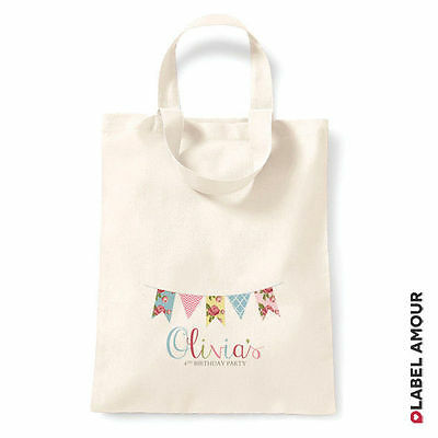 Personalised Party Favour Birthday Gift Cotton Tote Bag Sack PE Sport | Glennie