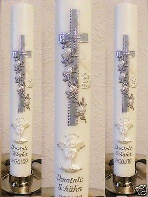 Personalised Girl/Boy Christening, Communion,Baptism Candles,Gift Favors Candle