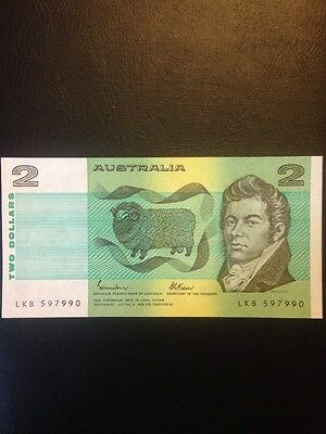 Australian Two Dollar Note New and Crisp