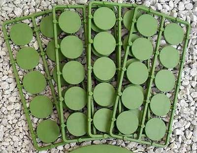 Bases -  Round Bases  25mm - 50 bases per bag GREEN