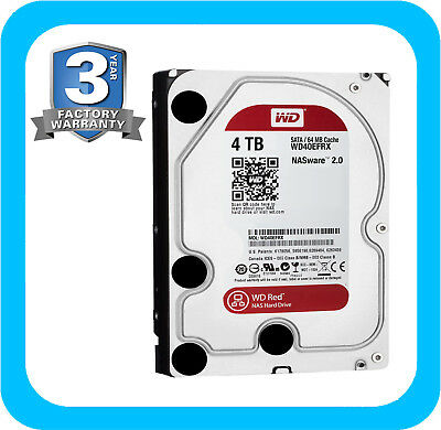 Western Digital WD 4TB Red SATA Internal Desktop NAS Hard Drive HDD WD40EFRX