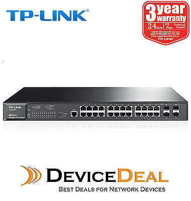 TP-LINK TL-SG3424P JetStream 24 Port Gigabit L2 Managed PoE Switch with 4 SFP