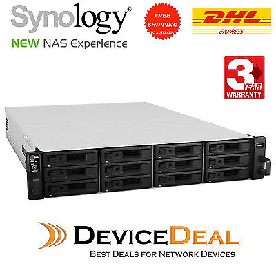 Synology RackStation RS2416RP+ 12-Bay Diskless NAS - Quad-Core 2.4GHz, 2GB RAM