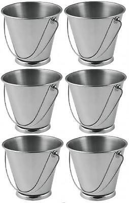 6 x Mini Serving Food Pails 70x70mm Plating Presentation Catering Cafe